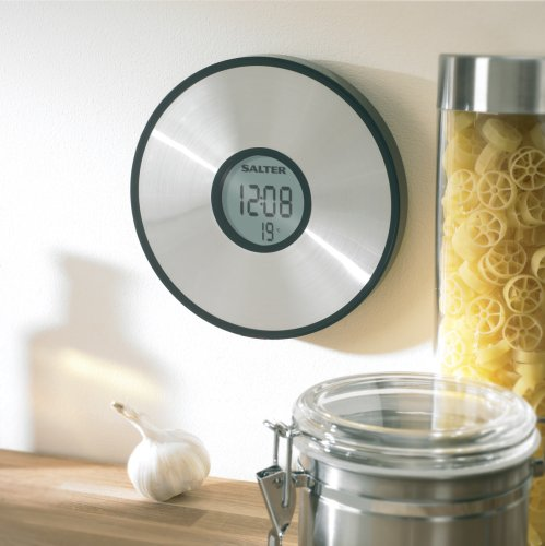 Salter Lcd Wall Mount Aquatronic Kitchen Scale And Clock
