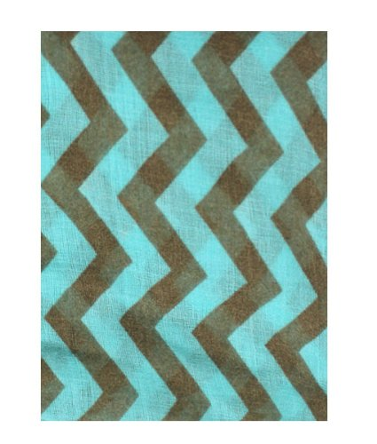 Womens Chevron Zig Zag Infinity Neck Scarf (Mint Green/Brown)
