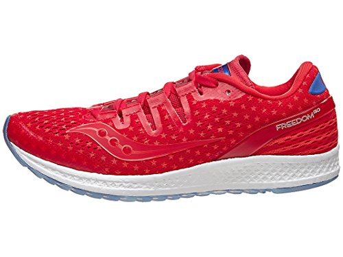 Saucony Freedom ISO W Shoe Rd/Wh/Bl 7.5 B by Saucony