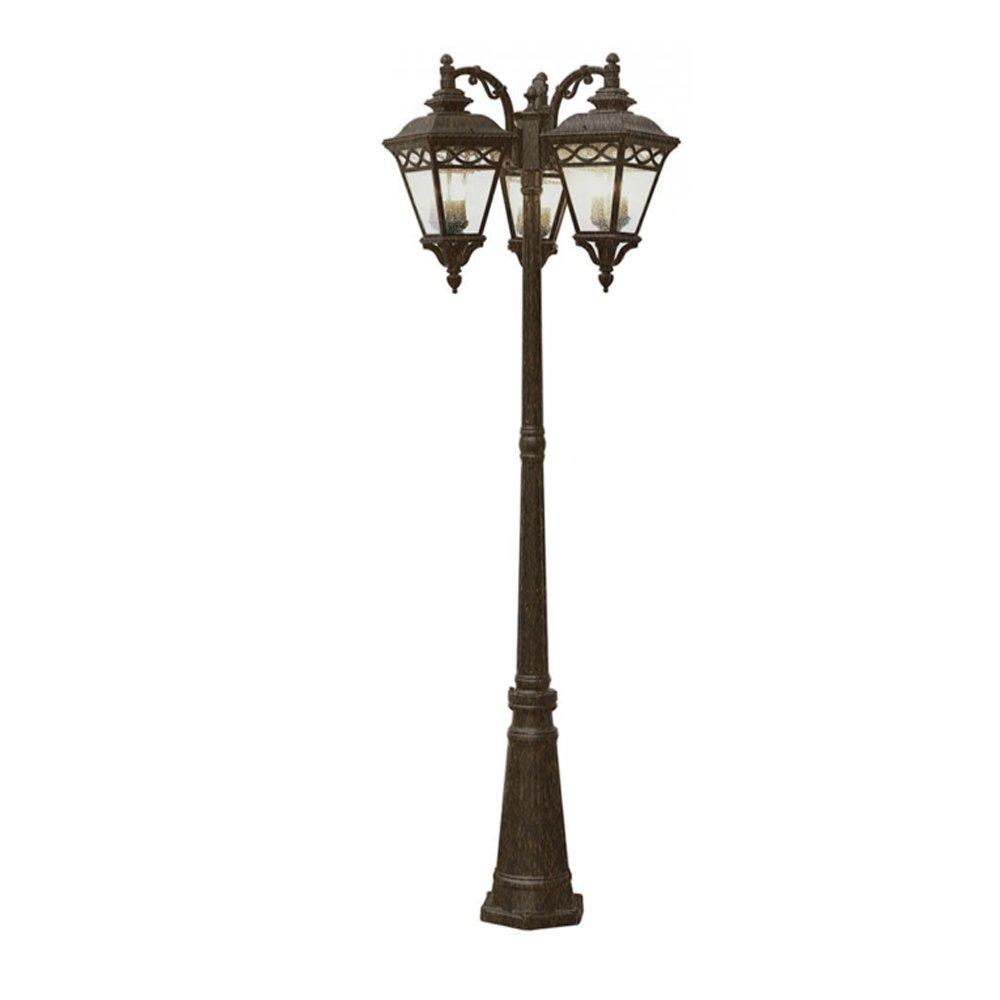 Amazon Com Trans Globe Lighting 50518 Bk Outdoor Candlewood 80 75 Pole Light Black Outdoor Post Lights Patio Lawn Garden