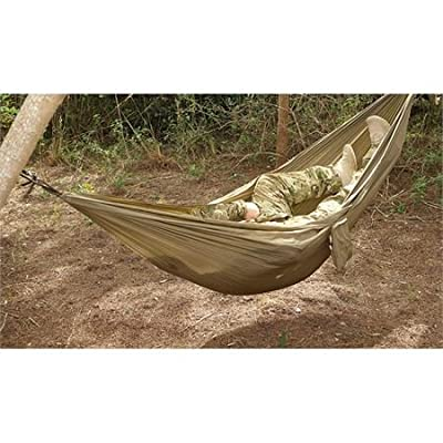 Proforce Equipment Snugpak Tropical Hammock, Coyote - Manufactured from parachute nylon material Lightweight but extremely strong Folds away into its own practical stuff bag - patio-furniture, patio, hammocks - 51hYOoVujuL. SS400  -