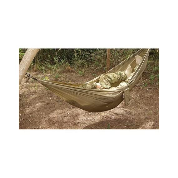 Proforce Equipment Snugpak Tropical Hammock, Coyote - Manufactured from parachute nylon material Lightweight but extremely strong Folds away into its own practical stuff bag - patio-furniture, patio, hammocks - 51hYOoVujuL. SS570  -