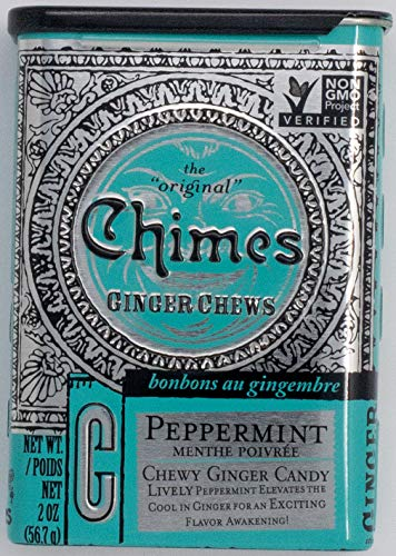 Chimes All Natural Peppermint Ginger Chews - 2 oz Tin ()