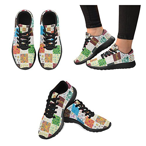 Womens Jogging Walking Abstract Road Sports Athletic InterestPrint Sneakers Lightweight Running Shoes 6dCxUx