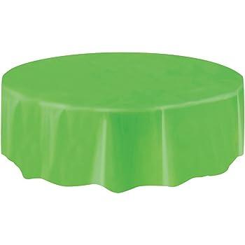 Amazon Com Round Plastic Tablecloth Lime Green 84