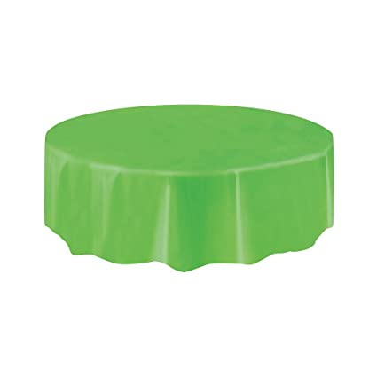 Charmant Round Plastic Tablecloth Lime Green 84u0026quot; Diameter