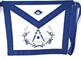 D3500 Apron Masonic Past Master No Square with Wreath Imitation Leather