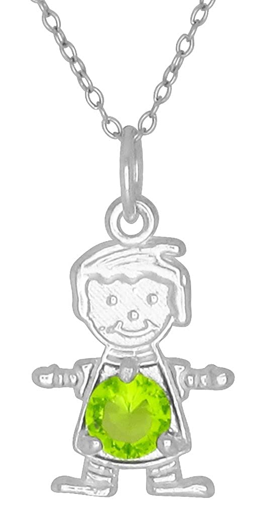 Happy Baby Boy Sterling Silver August Birthstone Pendant Necklace Yellow Stone and Chain eJewelryPlus chn0085