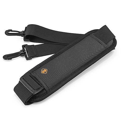 tomtoc Universal Replacement Shoulder Strap with Adjustable Thick Pad for Bags and Luggage, Padded & Adjustable Bag Strap, Black ()