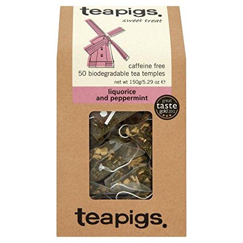 teapigs Liquorice and Peppermint Tea, 50 Count by teapigs