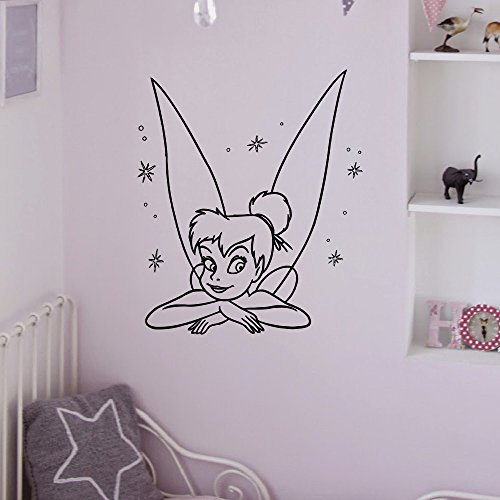 Vinyl Wall Decals Tinkerbell Princess Silhouette Peter Pan Bedroom Decal Wall Stickers Baby Nursery Wall Art Murals For Kids Q067
