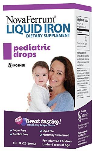 NovaFerrum Детская капли жидкого чугуна Приложение для младенцев и детей ясельного возраста 50 мл