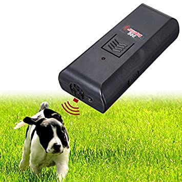 EsportsMJJ Ultrasónico Mascota Perro Ahuyentador De Ladridos Entrenar Entrenador De Perros: Amazon.es: Hogar