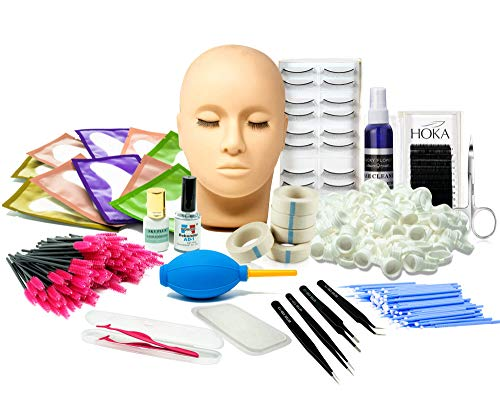 Lash Eyelash Extension Kit: Professional Mannequin Head