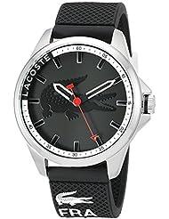Lacoste Mens 2010840 Capbreton Analog Display Japanese Quartz Black Watch