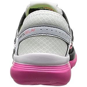 Saucony Women's Kineta Relay Running Shoe, White/Black/Pink, 5 M US