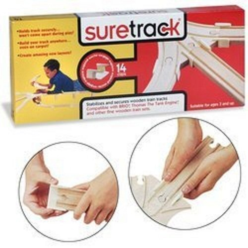 - Suretrack Locking System for Wooden Rail Toys ** THREE PACKS ** includes BONUS (2) Thomas the Tank Engine Stickers by