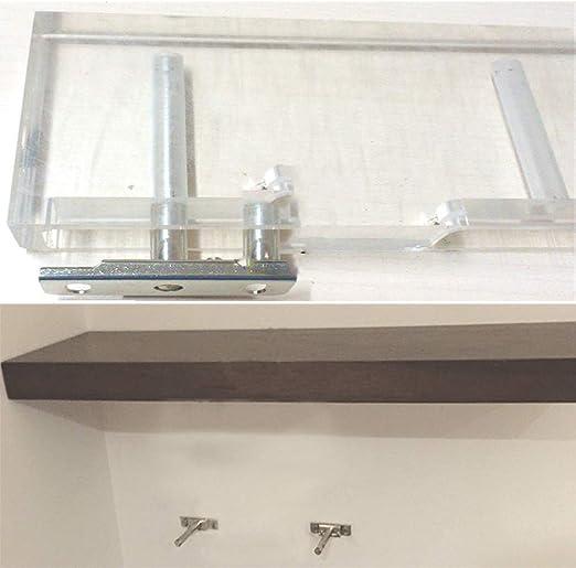 Gasea Soporte de tablero invisible en forma de T, 4 pcs soporte de plataforma flotante oculta Armario de alacena de muebles capa de partición Cuadro de soporte - Plateado: Amazon.es: Bricolaje y