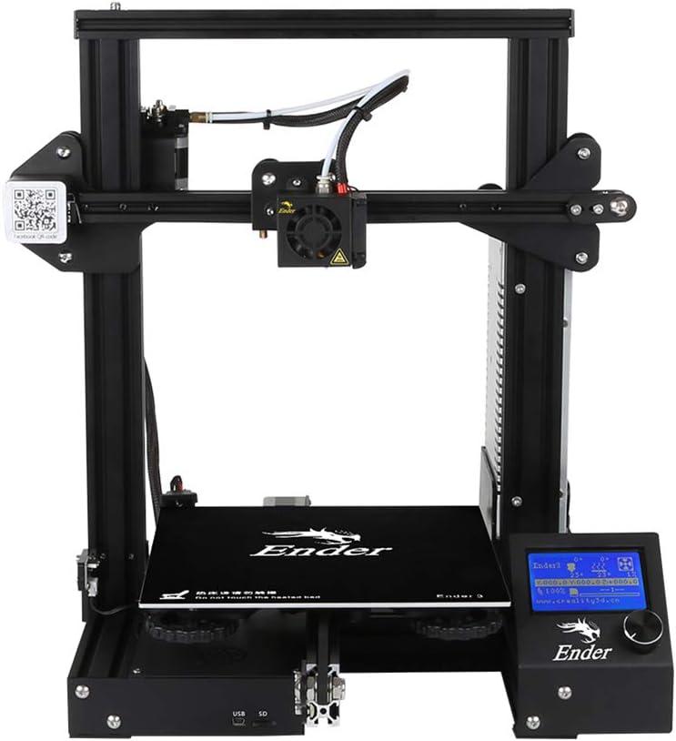 3D DIY Facile /à Monter 220 * 220 * 250 mm Taille dimpression de Vie Impression de Soutien PLA Imprimante 3D Haute Pr/écision ABS D/étection Rupture de Filament et Reprise de Derni/ère Impression