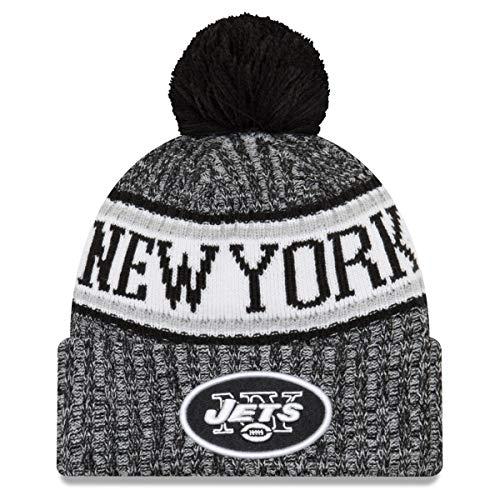 認証夢百ニューエラ (New Era) NFL サイドライン 2018 ボブル ビーニー帽 ニューヨークジェッツ (New York Jets)