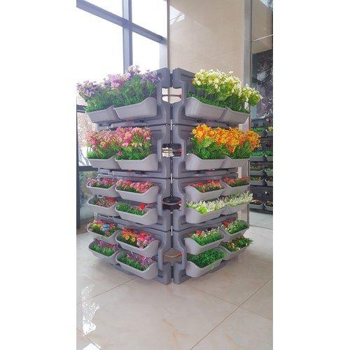 GARTENKRAFT 4-Piece Indoor/Outdoor Self-Watering Plastic Vertical Garden Set Overall 16.9'' H x 36.2'' W x 7.5'' D