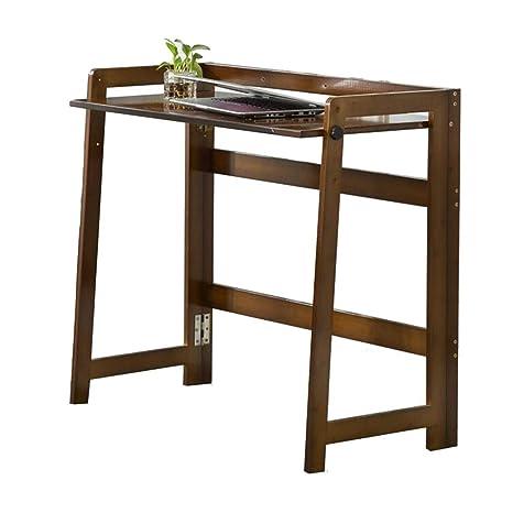 Amazon.com: QIDI Mesa de madera maciza plegable escritorio ...