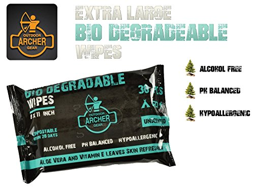 ArcherOG Biodegradable Wipes for...