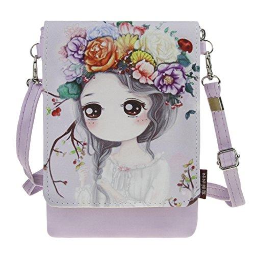 Crossbody Bags, Cute Cartoon Travel Wallet Purse iphone Case Cell Phone Holders Coin Pouches Handbag Shouder Bag Money Clip for Women Teens Girls Kids Students