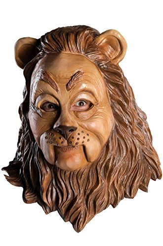 Rubie's 68225 Costume Co Wizard of Oz Deluxe Latex Mask, Cowardly Lion, One Size, Brown