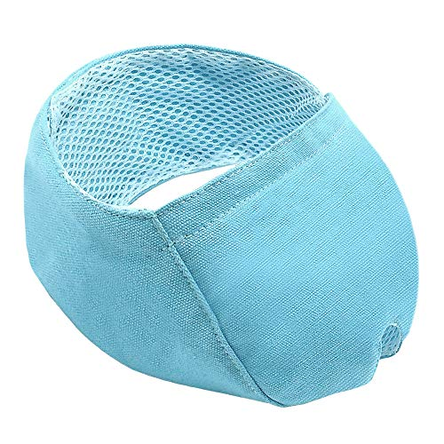 Didog Cat Muzzles for Trimming Grooming Nails,Cat Grooming Mask Muzzle for Anti-Scratch and Anti-Biting for Kitten Cats Small Animals,Blue,S Size