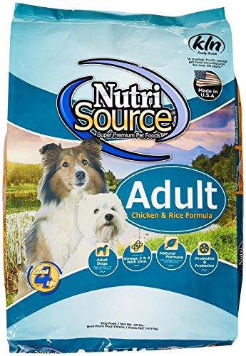 Adult Formula 33 Lb Bag (Tuffy's Pet Food NutriSource Chicken and Rice Adult Dog Food,)