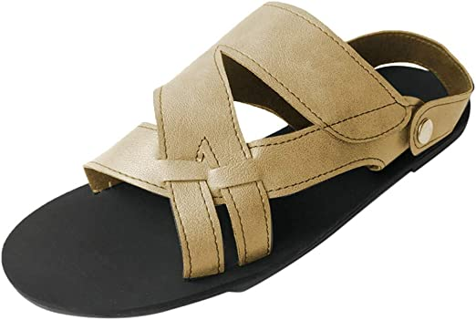 Casual Women/'s Peep Toe Shoes Ankle Strap Buckle Sandals Flat Summer Beach US