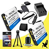 Two Halcyon 1200 mAH Lithium Ion Replacement EN-EL19 Battery and Charger Kit + Memory Card Wallet + SDHC Card USB Reader + Deluxe Starter Kit for Nikon Coolpix S100, COOLPIX S2600, COOLPIX S3100, COOLPIX S3300, COOLPIX S4100, COOLPIX S4300, Coolpix S6400,