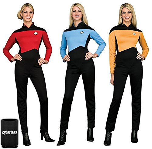Star Trek Women's Next Generation Deluxe Uniform Commander Red (S) Next Generation Ladies Jumpsuit