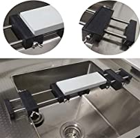 Sharpening Stone Waterstone holder Sink bridge with Adjustable No-Slip Rubber for Easy Honing 304 Stainless Steel