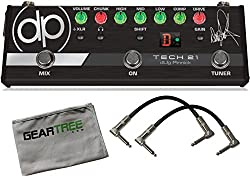 Tech 21 dUg Pinnick DP-3X Signature Pedal - Pre-Amp for Bass w/Cloth and 2 Patch Cables from T E C H 2 1