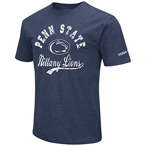 Penn State Nittany Lions Walking - NCAA Colosseum Men's Vintage Retro Dual-Blend T-Shirt-Penn State Nittany Lions-Dark Blue-XL