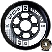 K2 Skate Speed 85A 8 Wheel Pack with ILQ 9 Bearing, 90mm,