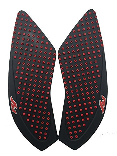 3D Red Dots Gas Fuel Tank Traction Pad Anti Side Slip Protector For Yamaha R1 2015-2017 ()