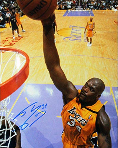Shaquille O'Neal Lakers Jersey Signed 16x20 Photo - Steiner Sports Certified - Autographed NBA Photos