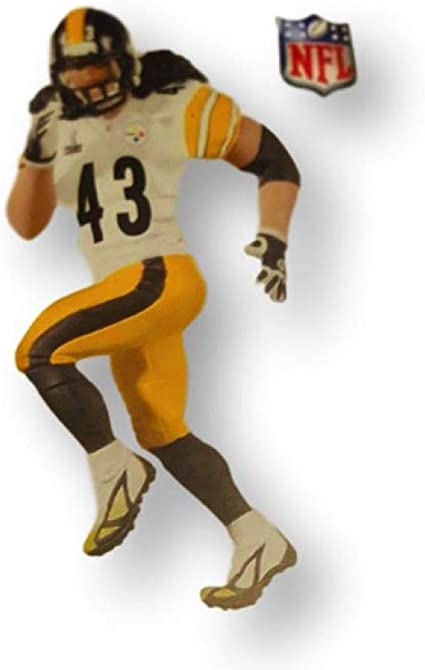 Football Legends Repaint Pittsburgh Steelers QXI2227 by Hallmark Keepsakes Hallmark Ornament 2011 Troy Polamalu