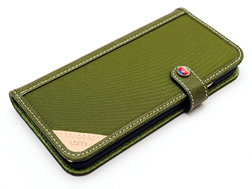 LIM's Designer Cordura Innovation Diary Type Case for iPhone 6 (Olive Green)