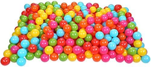 BalanceFrom 23Inch Phthalate Free BPA Free NonToxic Crush Proof Play Balls Pit Balls 6 Bright Colors