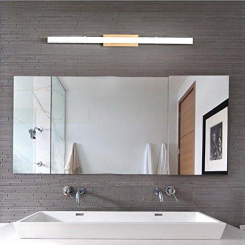 &LED Spiegelfrontlampe Massivholz-Wand-Lampe, geführte Gang-Treppenhaus-Badezimmer-Spiegel-vordere helle Schlafzimmer-Nachttisch-Lampen-Wand-Lichter Lampe vor dem Spiegel (Edition : White light)