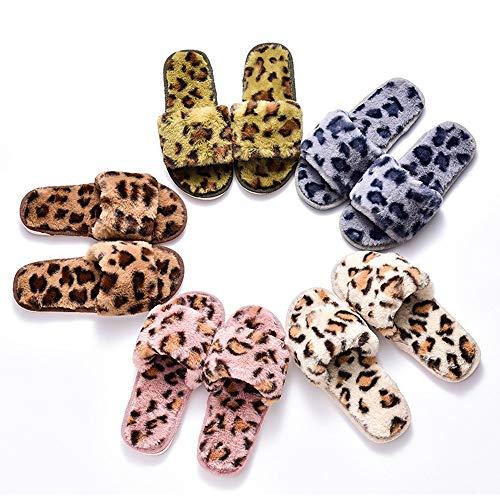 B Dell'interno Pantofole Signore colore Leopardo Della Delle Di 41 Dimensioni Calde 40 Peluche C Cotone Donne XZqXwa