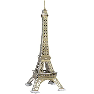 Brauo Eiffel Tower 3D Jigsaw Puzzle,DIY Brain Teaser Puzzles for Adults and Kids: Toys & Games