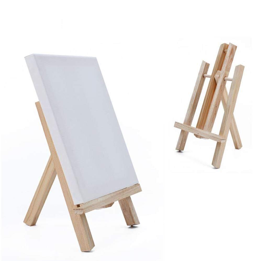 24x30 cm ensemble pour adultes et enfants Chevalet pictural en bois avec toile artiste//peintre id/éal pour la peinture art