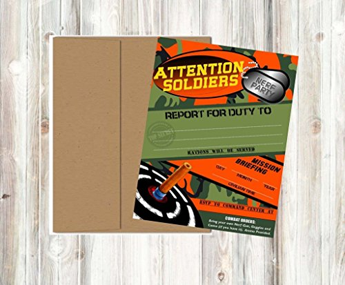 Dart Tag Themed Party Supplies (Invitations)