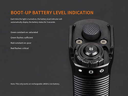 FENIX TK35 Ultimate Edition UE 2000 Lumen LED Tactical Flashlight with 2 X Fenix 18650 Li-ion rechargeable batteries, 4 X EdisonBright CR123A Lithium batteries, Charger bundle by EdisonBright (Image #2)