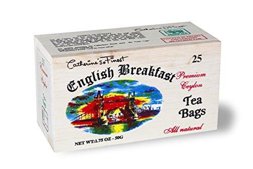 All Natural Premium Ceylon Tea in Wooden Box (English Breakfast) - Ceylon Breakfast